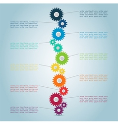 Infographic Cog Steps 2 vector image vector image
