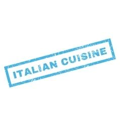 Italian cuisine rubber stamp vector