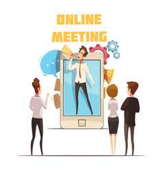 Online meeting concept vector