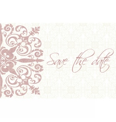 Save the date card with ornaments vector image vector image
