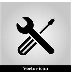 Setting black icon on grey background illu vector image