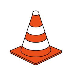 Traffic cone design vector