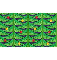 Vintage seamless pattern with christmas tree vector image