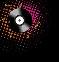 vinyl shape design vector image vector image