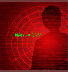 wanna cry cyber virus vector image