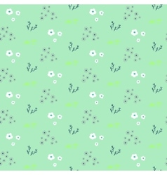 Wild flower pastel mint spring field seamless vector