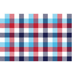 Check pixel plaid seamless pattern vector