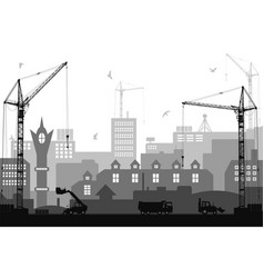 industrial flat style city under construction vector image