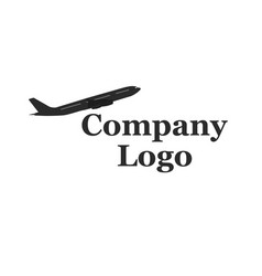 Company logo with airplane vector