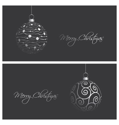 modern and elegant christmas card backgrounds vector image