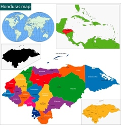 Honduras map vector