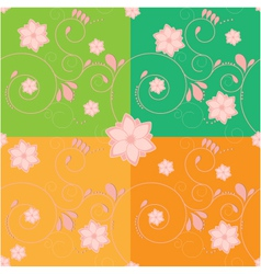 Flower backdrop vector