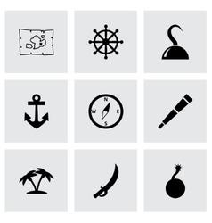 pirate icon set vector image