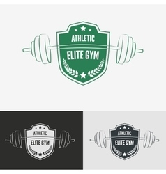 Athletic gym logo concept vector