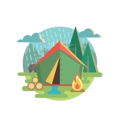 Outdoor recreation camping vector