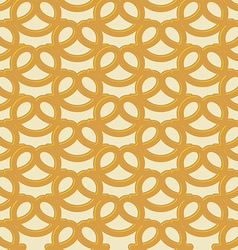 Beer snack seamless background pattern pretzel vector