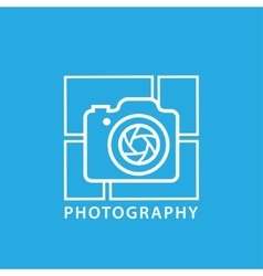 Photography icon in trendy linear style vector image