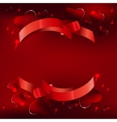 Banner hearts background vector