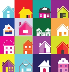 0508 house icons vector