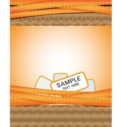 Abstract background orange ribbons seam woven arou vector