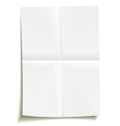 Folded sheet of paper vector