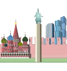 Cityscape of moscow vector