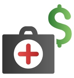 Medicine cost gradient icon vector