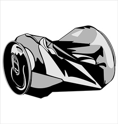 Crumpled tin can vector