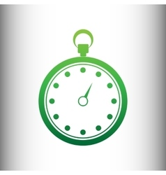 Stopwatch sign green gradient icon vector