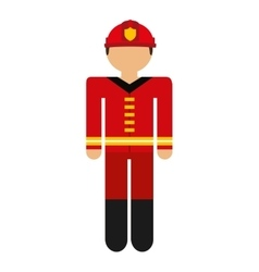 Firefighter avatar isolated icon design vector