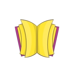 Open thick book icon cartoon style vector