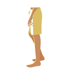 A mens lower body vector image vector image