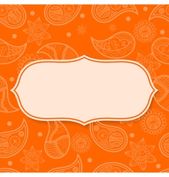 Abstract frame with paisley pattern vector image