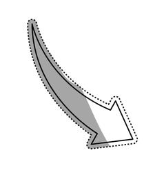 Arrow down decrease vector