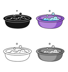 baby bath icon in cartoon style isolated on white vector image vector image