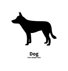 black dog silhouette vector image vector image
