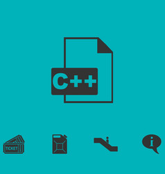 C file icon flat vector