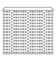 Condominium icon vector