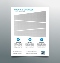 Corporate business flyer template - light design vector