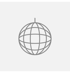 Disco ball line icon vector image vector image