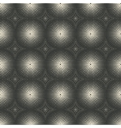 Dotted monochrome geometric seamless pattern vector