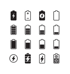 Electric battery accumulator energy icons vector