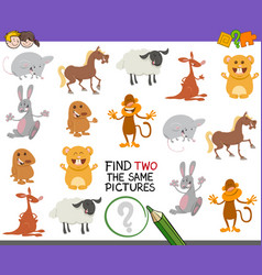find identical pair of images vector image vector image