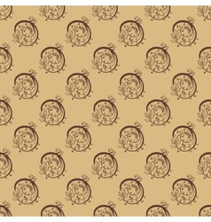 Hand Drawn Floral Seamless Pattern vector image vector image
