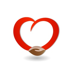 Handshaking with love icon vector image