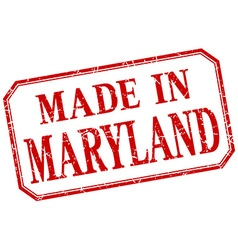Maryland - made in red vintage isolated label vector