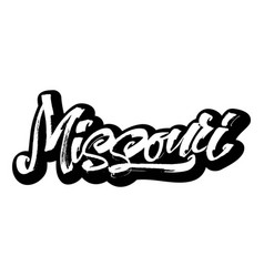 missouri sticker modern calligraphy hand vector image vector image