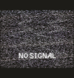 No signal in analog tv vector