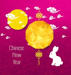 Oriental chinese new year background with lantern vector