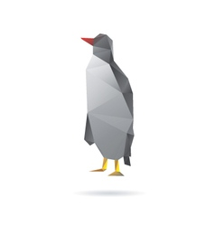 Penguin abstract isolated on a white backgrounds vector